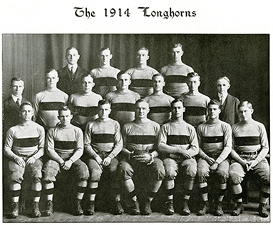 1914 UT Longhorn Football Team