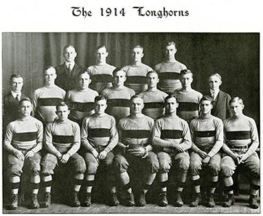 1914 UT Longhorn Football Team